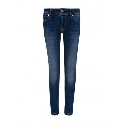 Blue Skinny-Fit Sleenker J-N Jeans