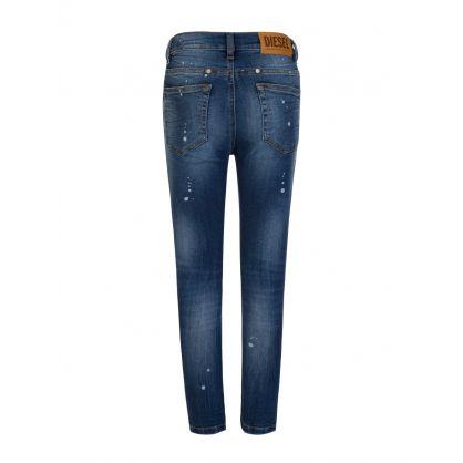 Blue Tapered-Fit D-Eetar-J Denim Jeans