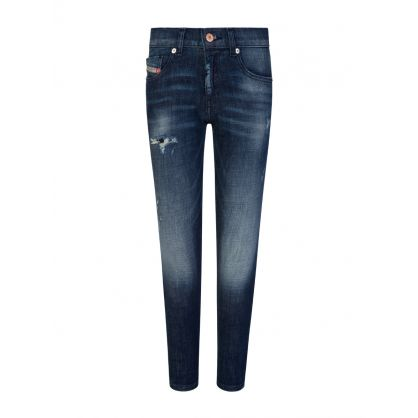 Dark Blue Denim D-Strukt Jeans