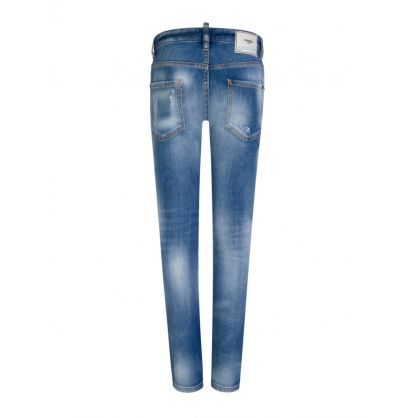 Kids Stonewashed Blue Denim Cool Guy Jeans