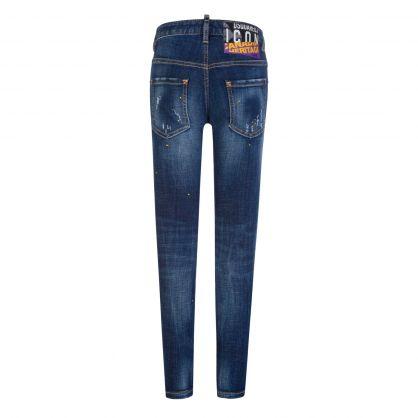 Kids Blue Heritage ICON Skater Jeans
