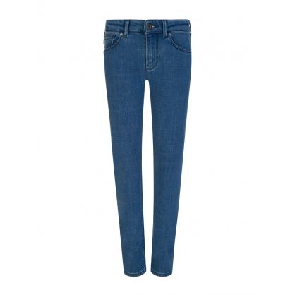 Junior Stonewashed Blue Denim J06 Jeans