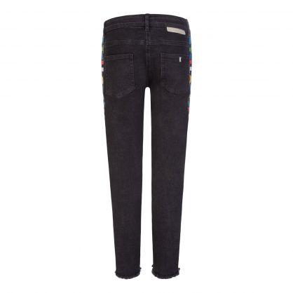 Black Stella Logo Tape Denim Jeans