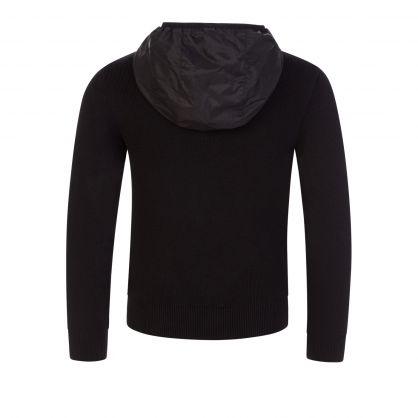 Black Albie Hybrid Zip-Through Jacket
