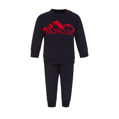 Navy Baby Two-Piece Tracksuit Set