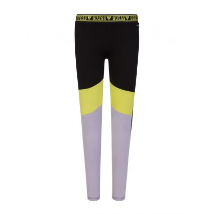 Kids Black Microfibre Leggings