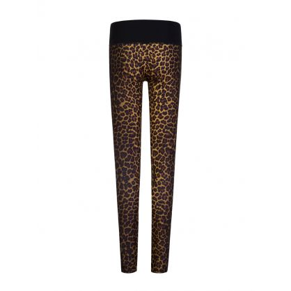 Kids Black Leopard Print Leggings