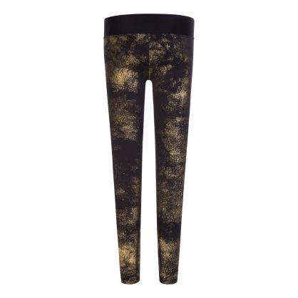 Black/Gold Logo Leggings