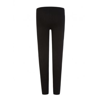 Kids Black Leg Logo Leggings