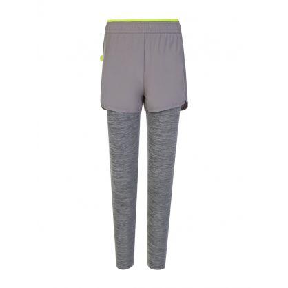 Grey Space Dye Active Leggings
