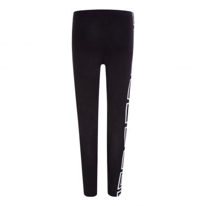 Black/White Junior Greca-Print Leggings