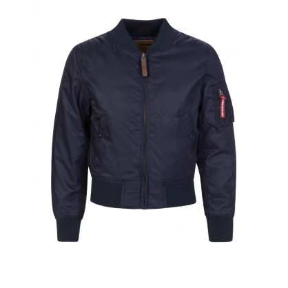 Kids Navy MA-1 VF 59 Jacket