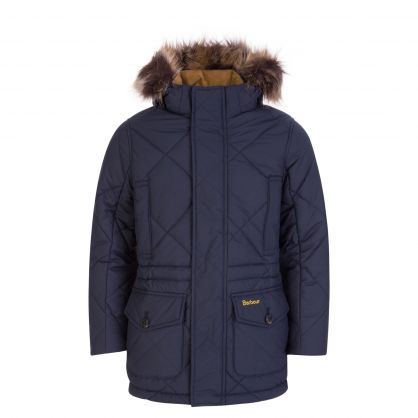Navy Holburn Quilted Jacket