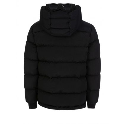 Black Padded Goggle Hooded Jacket