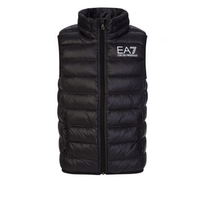 Junior Black Down Quilted Gilet