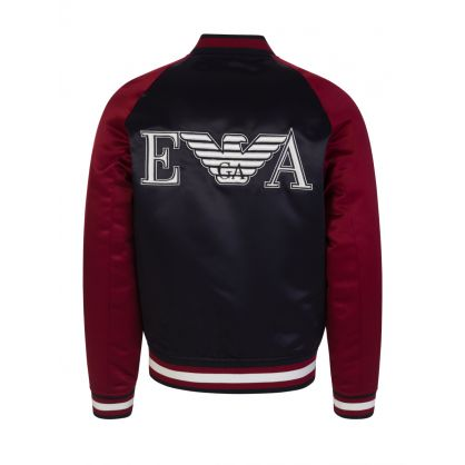 Junior Navy Back Logo Bomber Jacket