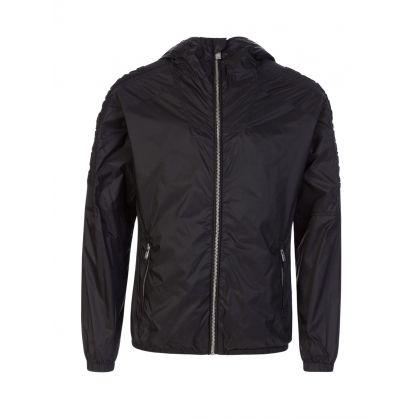 Junior Black Sleeve Logo Jacket