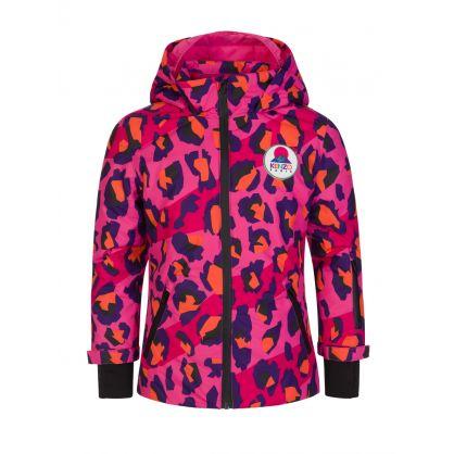 Pink Leopard Print Ski Jacket