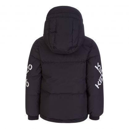 Black Puffer Parka Jacket