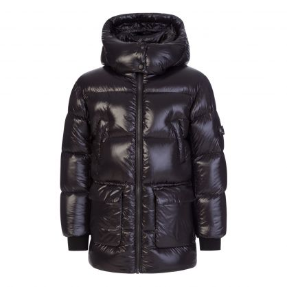 Black Kennie-Lus  Padded Coat