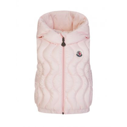 Pink Quitta Quilted Gilet