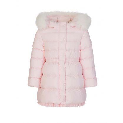 Pink Kithera Down-Padded Long Parka Jacket
