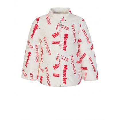 White Antie Down Baby Jacket