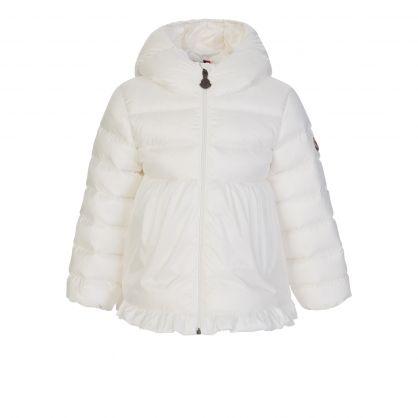 Cream Odile Hooded Down Jacket