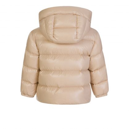 Beige Selen Hood Padded Jacket