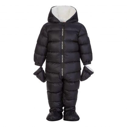 Black Kimete Padded Snowsuit