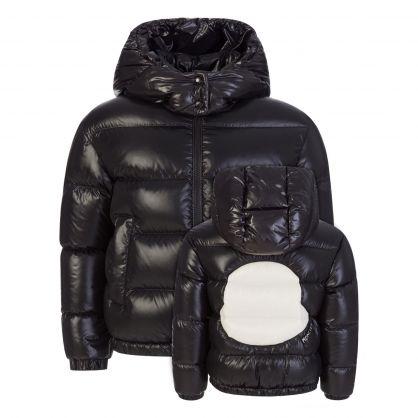 Black Fustet Short Down Jacket