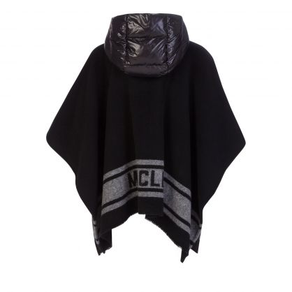 Black/Grey Flannel Cape Jacket