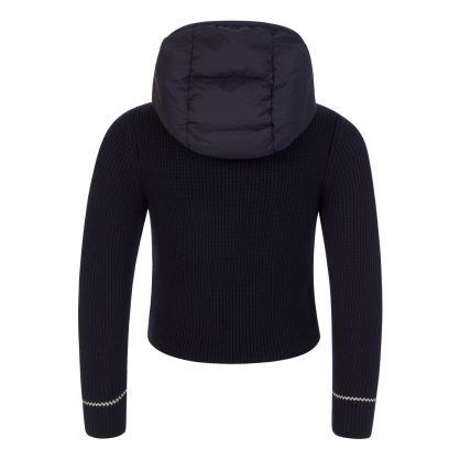 Navy Knitted Zip-Through Jacket