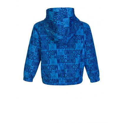 Kids Blue All Over Logo Jacket
