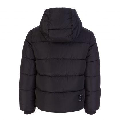 Kids Black Thunderbolt Down Filled Jacket