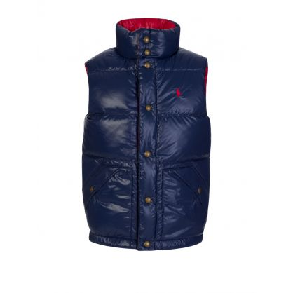 Kids Red/Blue Hawthorne Reversible Gilet