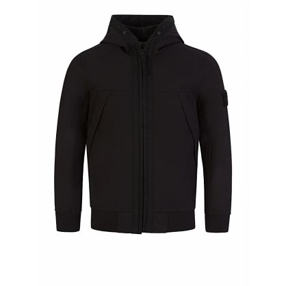 Junior Black Lightweight Hooded Jacket