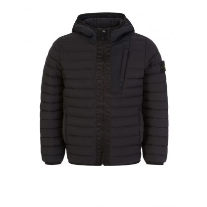 Junior Black Genuine Down Hooded Jacket