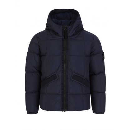 Junior Navy Real Down Jacket