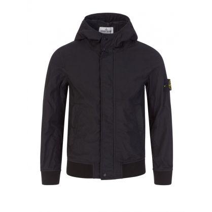 Junior Black Classic Hooded Jacket
