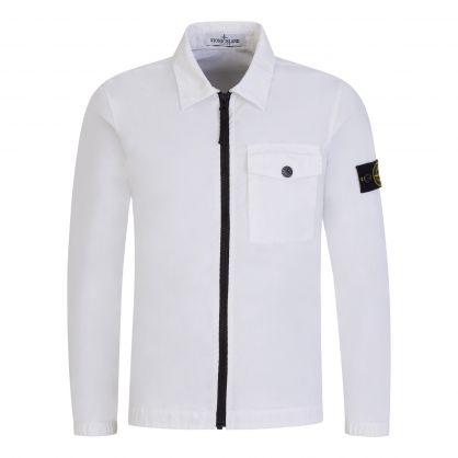 Junior White Single Pocket Overshirt
