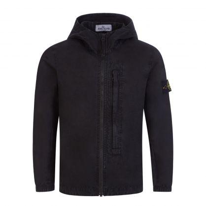 Junior Black Hooded Overshirt