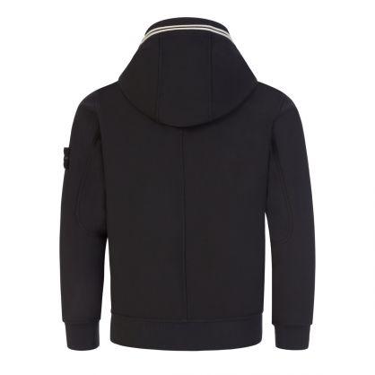 Junior Black Lightweight Hooded Overcoat