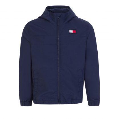 Kids Navy Back Colour-Block Jacket