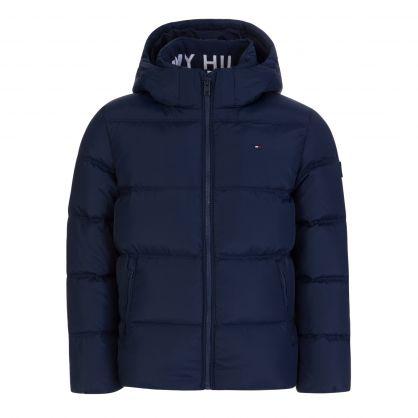 Kids Navy Essential Down Jacket