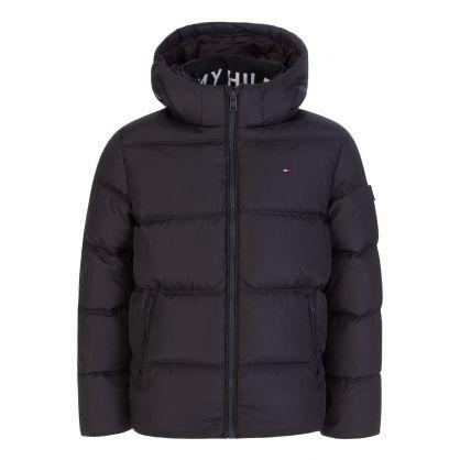 Kids Black Essential Down Jacket