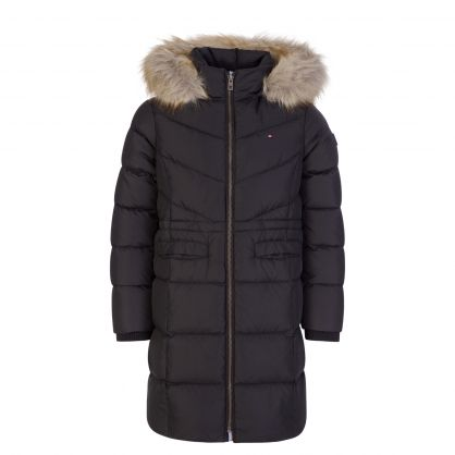 Kids Black Alana Down Puffer Coat