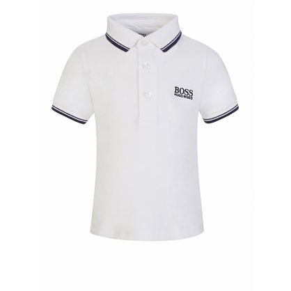 White Three-Button Polo Shirt