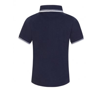 Navy Tipped Collar Polo Shirt