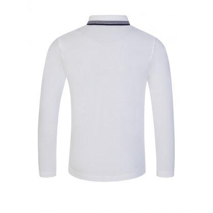 White Long-Sleeve Essential Polo Shirt